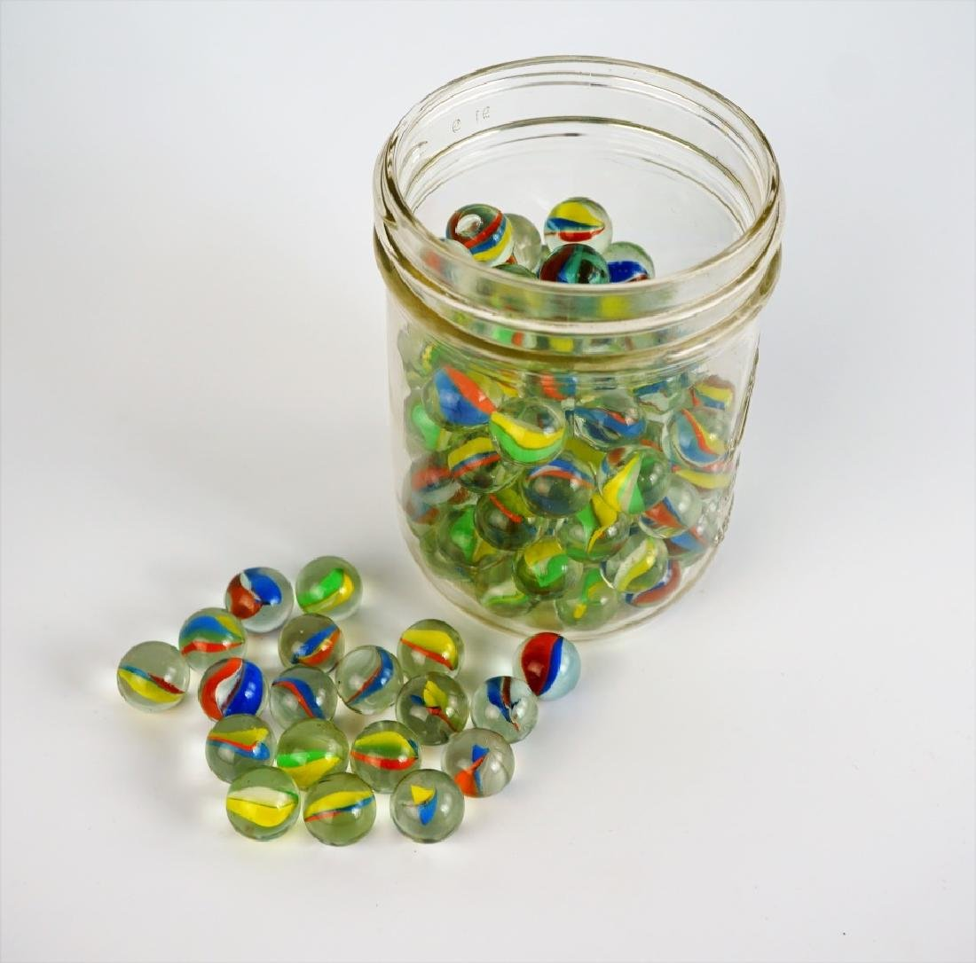 (100) ASSORTED CATS EYE MARBLES - 2
