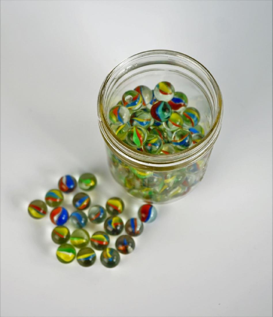 (100) ASSORTED CATS EYE MARBLES - 3