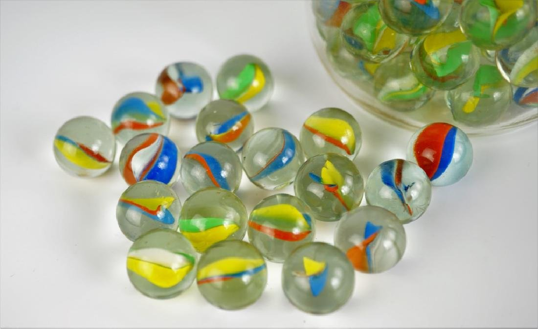 (100) ASSORTED CATS EYE MARBLES - 5