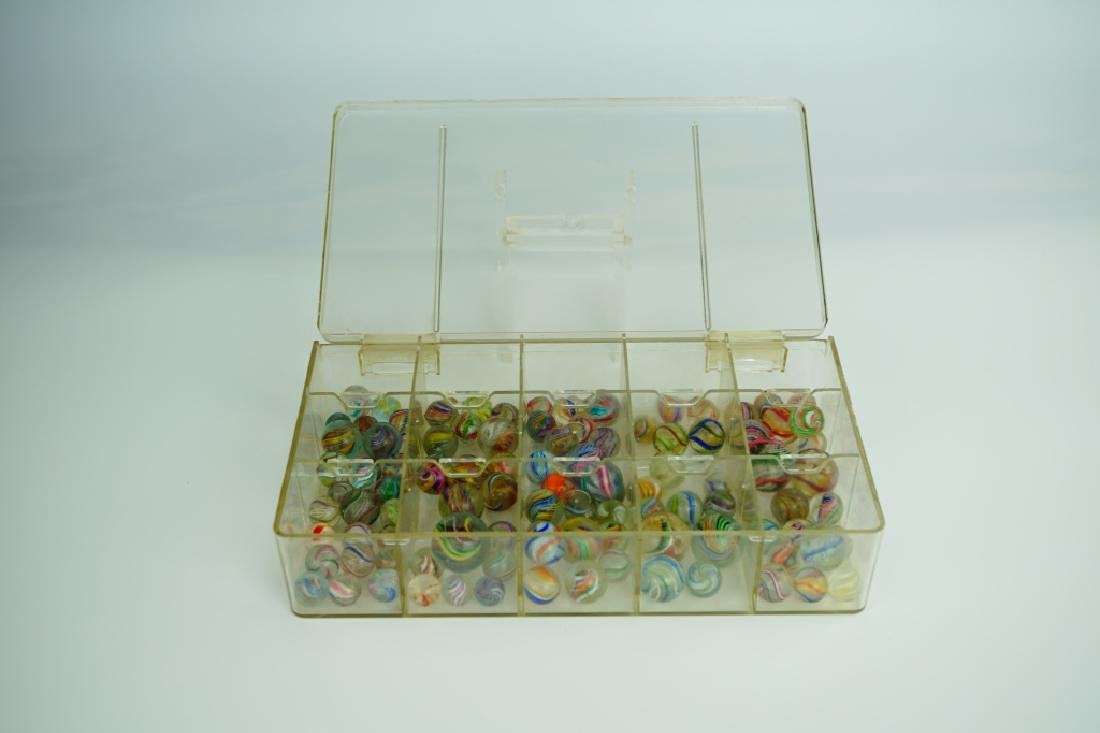 (102) ASSORTED GERMAN HANDMADE MARBLES