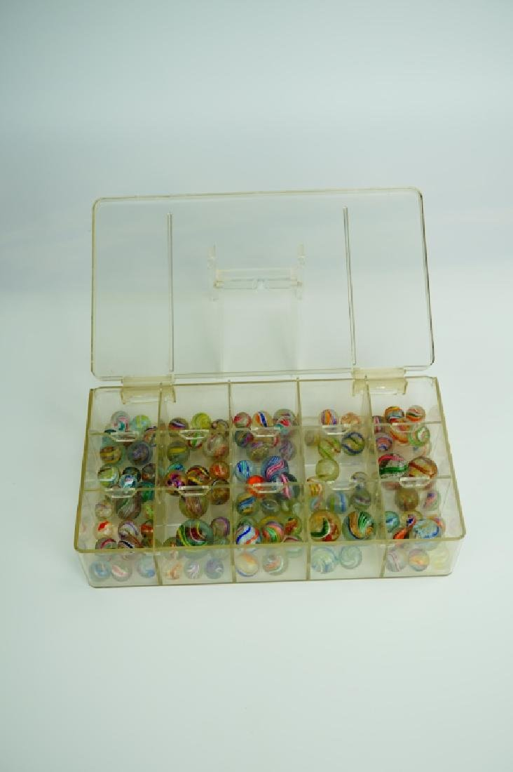 (102) ASSORTED GERMAN HANDMADE MARBLES - 2