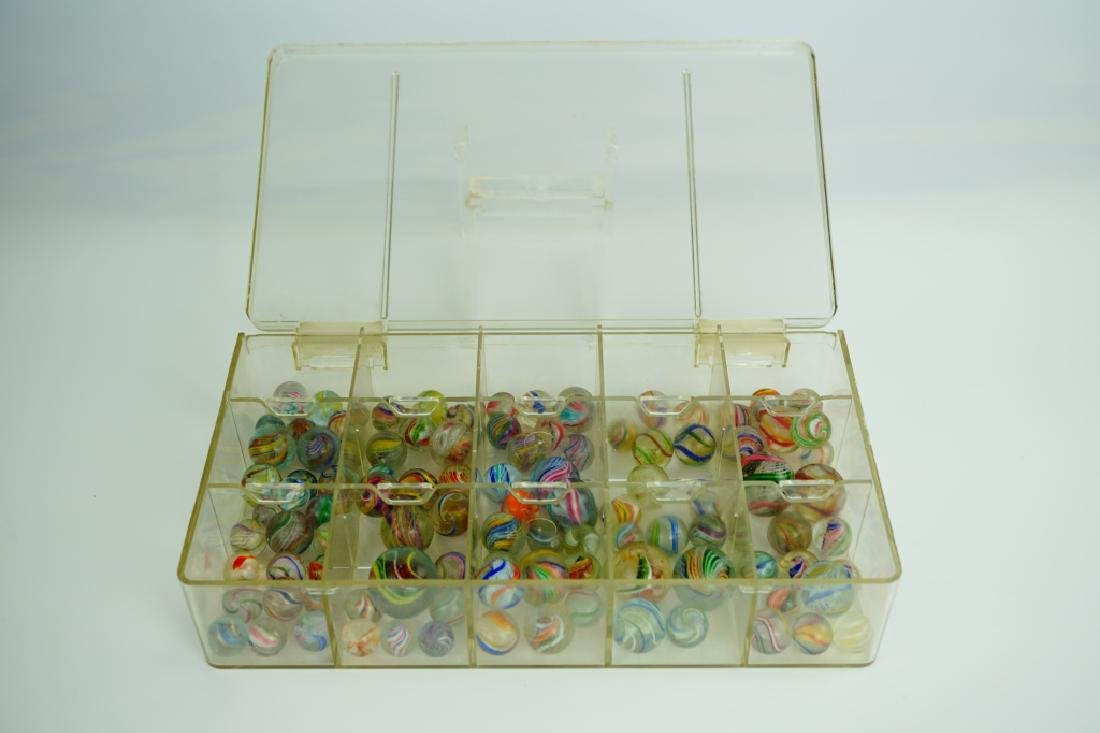 (102) ASSORTED GERMAN HANDMADE MARBLES - 3