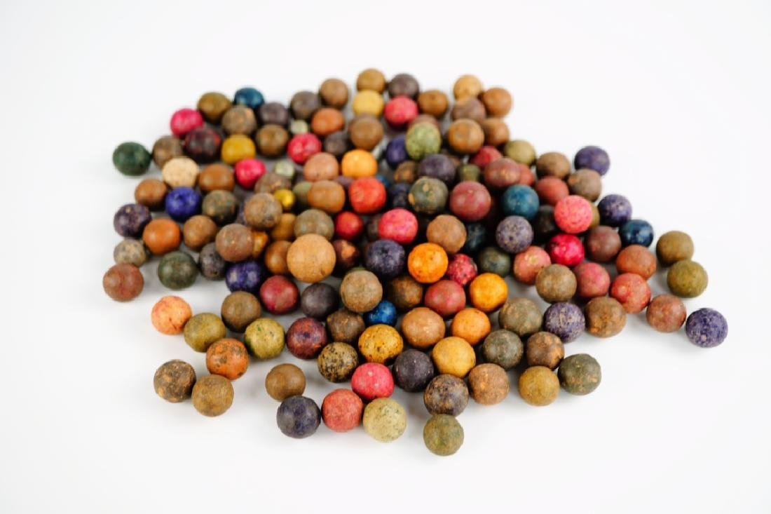 (33) ASSORTED CIVIL WAR CLAY MARBLES - 2