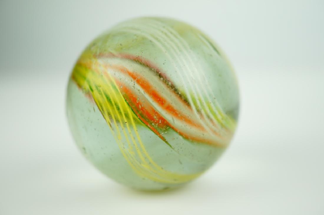 (4) GERMAN HANDMADE SWIRLED GLASS MARBLES - 10