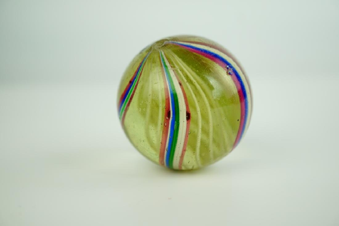(4) GERMAN HANDMADE SWIRLED GLASS MARBLES - 4