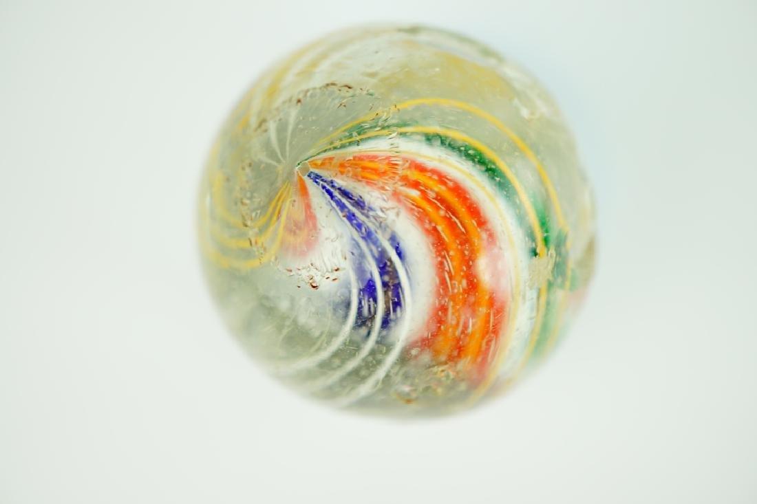 (3) GERMAN HANDMADE SWIRLED GLASS MARBLES - 10