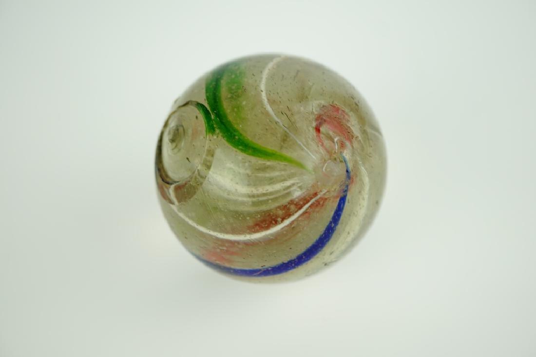 (3) GERMAN HANDMADE SWIRLED GLASS MARBLES - 6