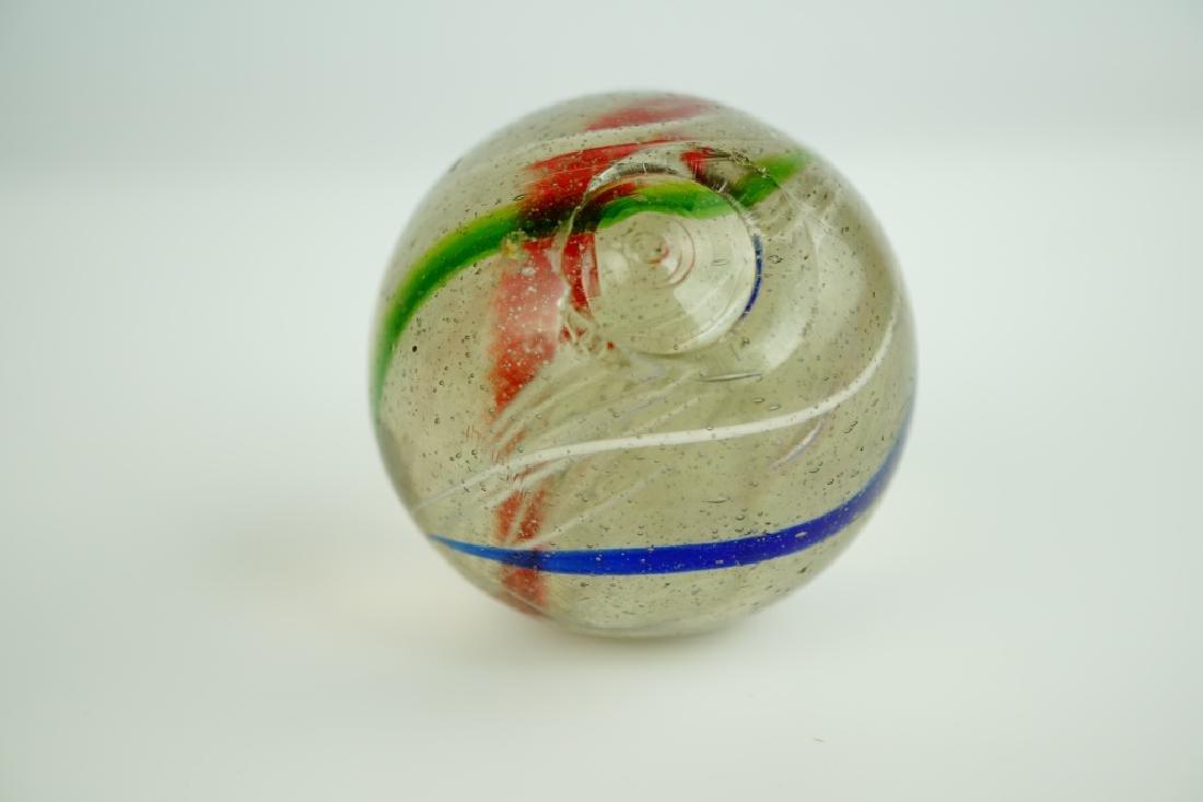 (3) GERMAN HANDMADE SWIRLED GLASS MARBLES - 7