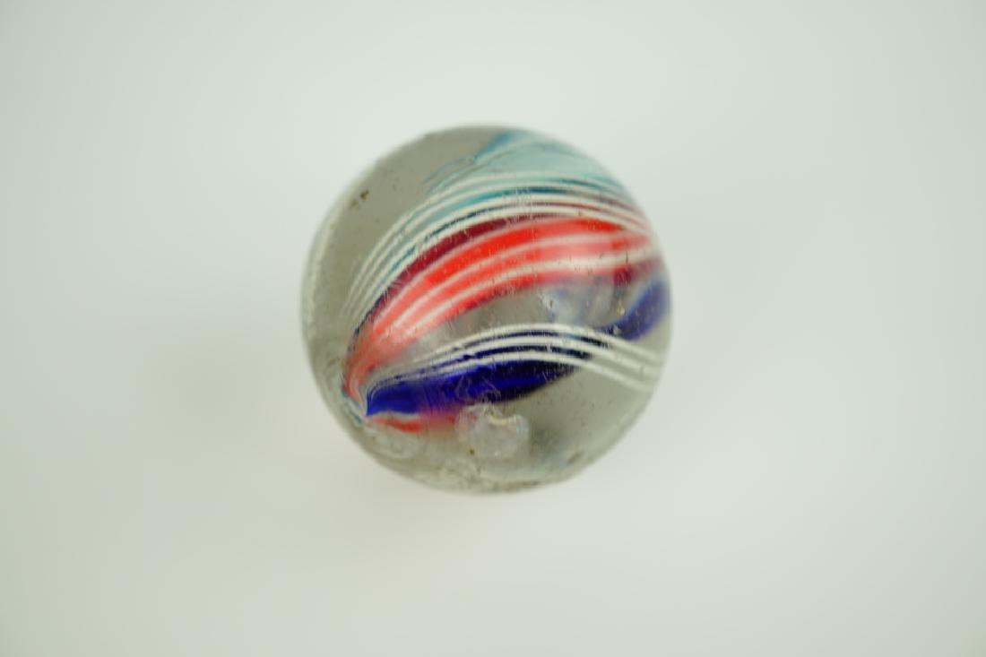 (3) GERMAN HANDMADE SWIRLED GLASS MARBLES - 8