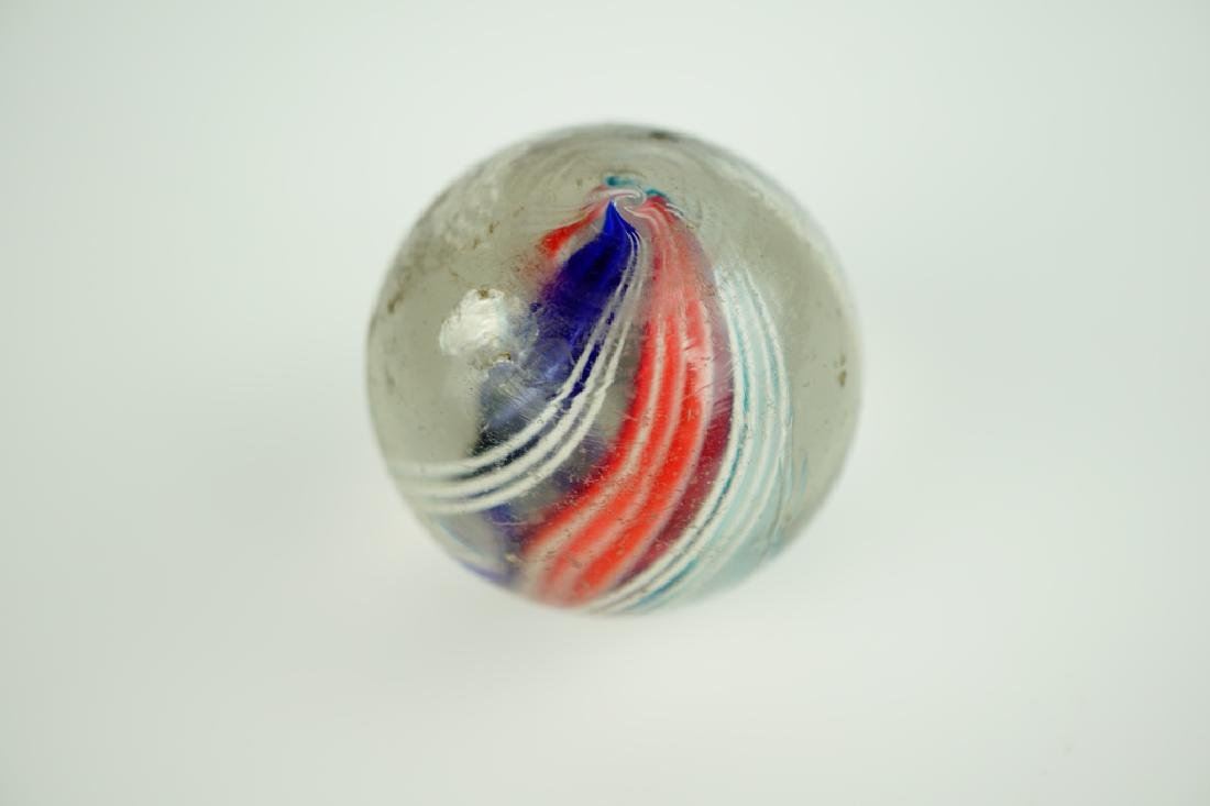 (3) GERMAN HANDMADE SWIRLED GLASS MARBLES - 9
