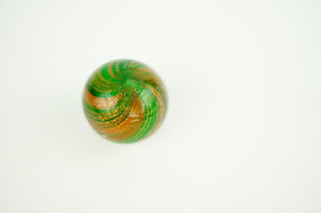 GERMAN HANDMADE GREEN LUTZ SWIRLED MARBLE - 2