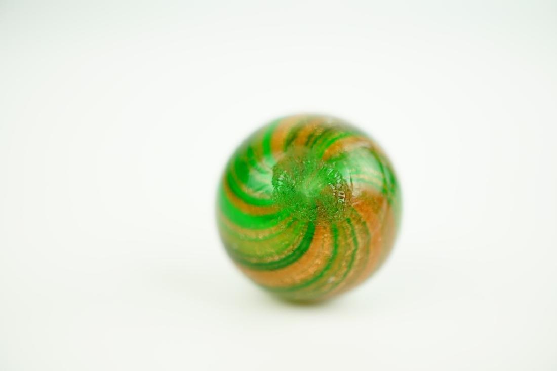 GERMAN HANDMADE GREEN LUTZ SWIRLED MARBLE - 5