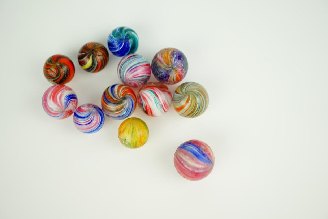 (12) ASSORTED GERMAN HANDMADE GLASS MARBLES