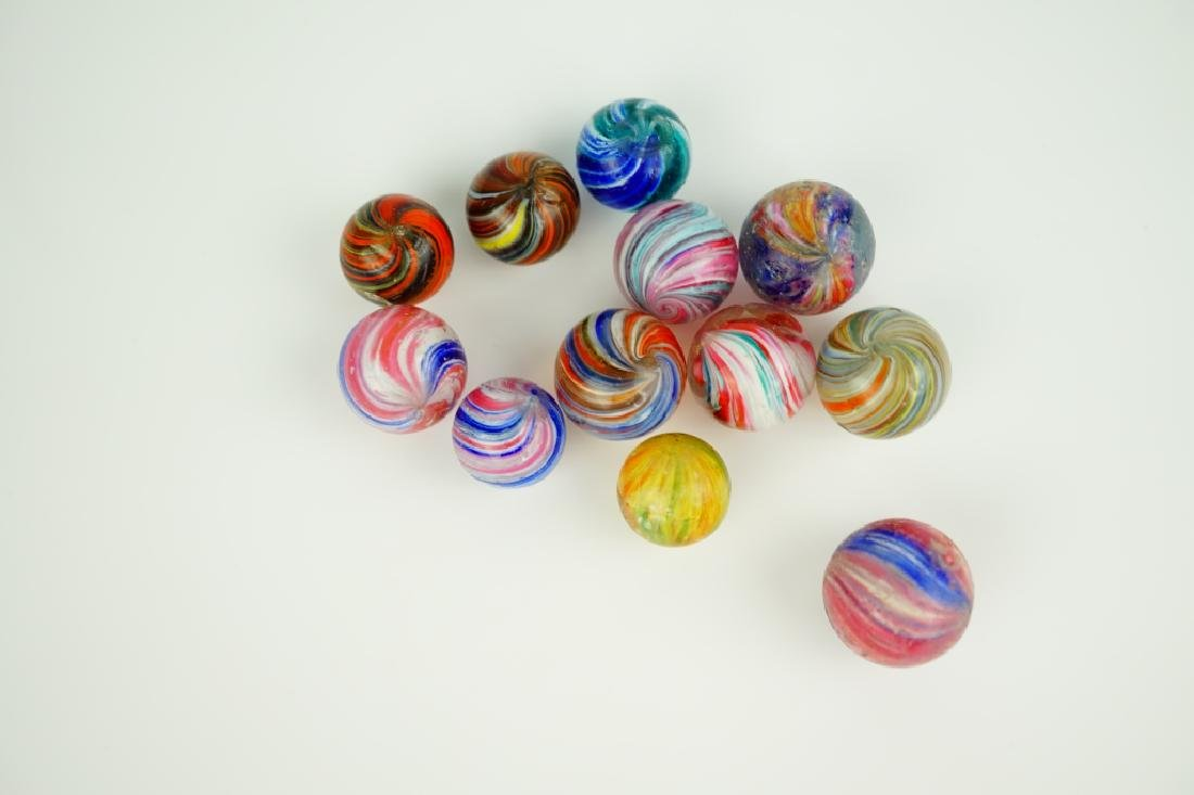 (12) ASSORTED GERMAN HANDMADE GLASS MARBLES - 2