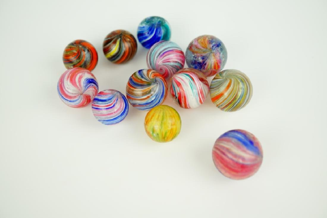 (12) ASSORTED GERMAN HANDMADE GLASS MARBLES - 3