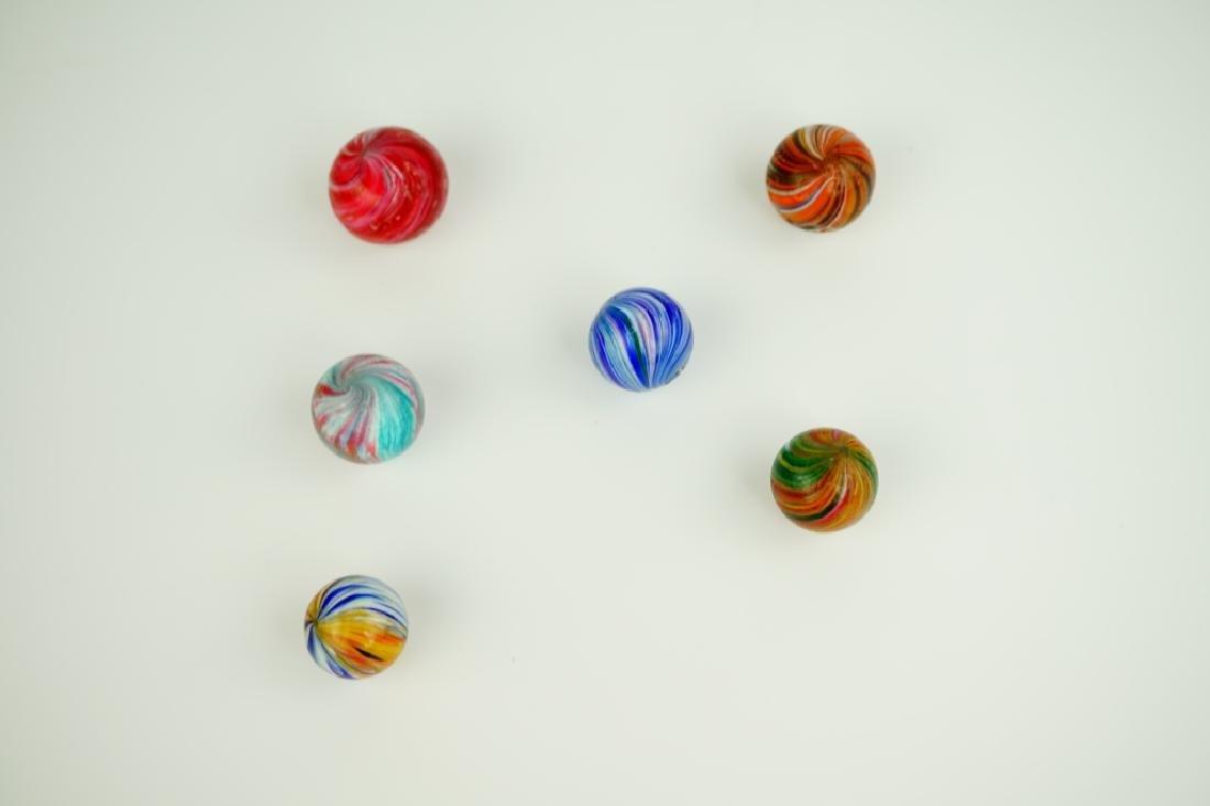 (6) ASSORTED GERMAN HANDMADE GLASS MARBLES