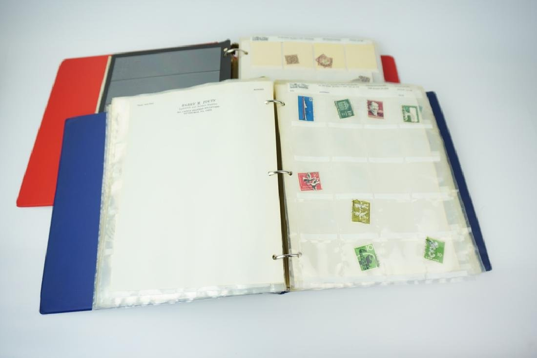 (2) GERMAN STAMP ALBUMS 1500+ STAMPS - 4