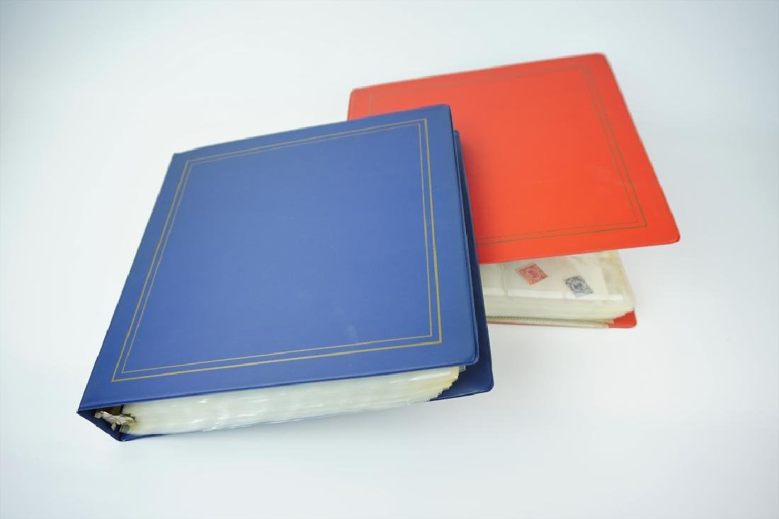 (2) GERMAN STAMP ALBUMS 1500+ STAMPS - 5