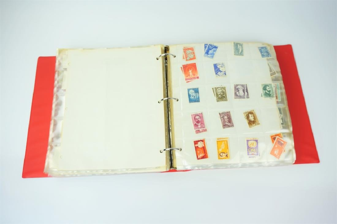 ALBUM OF 2000+ ASSORTED ROMANIAN STAMPS - 2