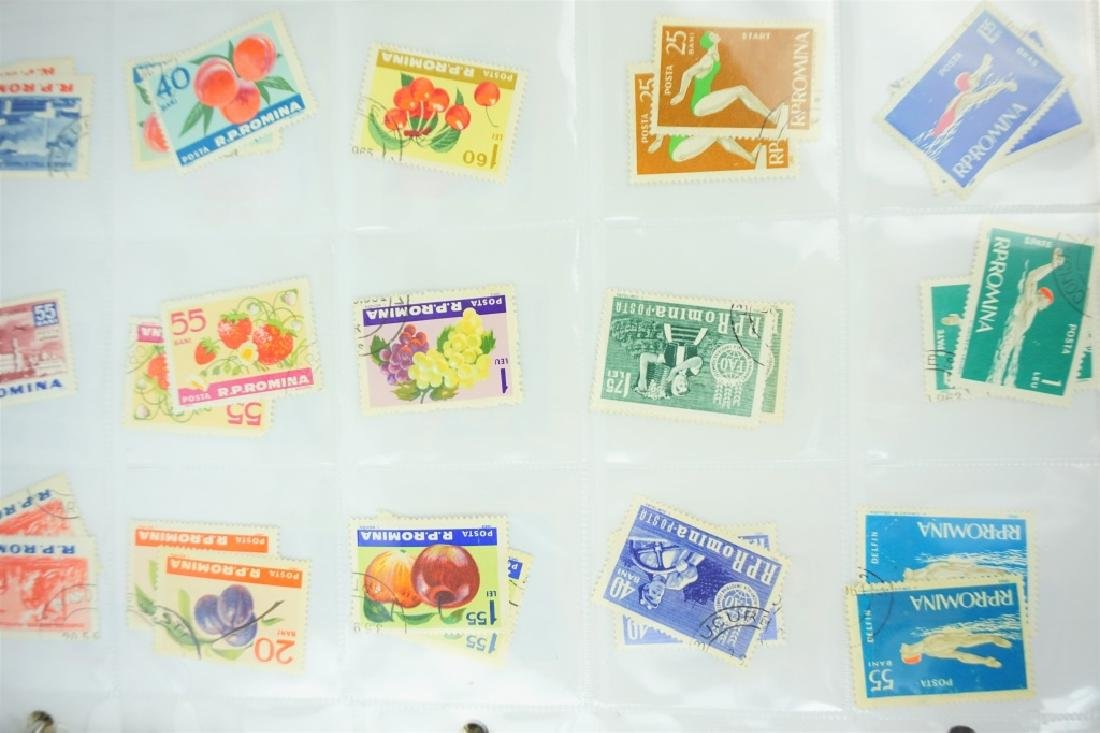 ALBUM OF 2000+ ASSORTED ROMANIAN STAMPS - 5