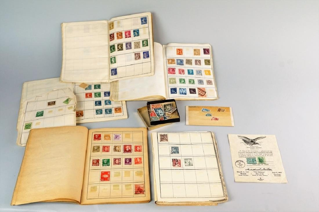 ASSORTED ANTIQUE FOREIGN AND DOMESTIC STAMPS - 2