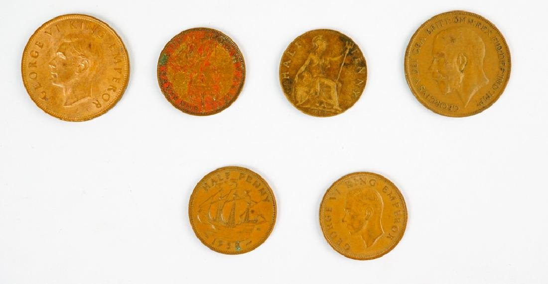 (177) ASSORTED UK NEW ZEALAND AND AUSTRALIAN COINS - 2