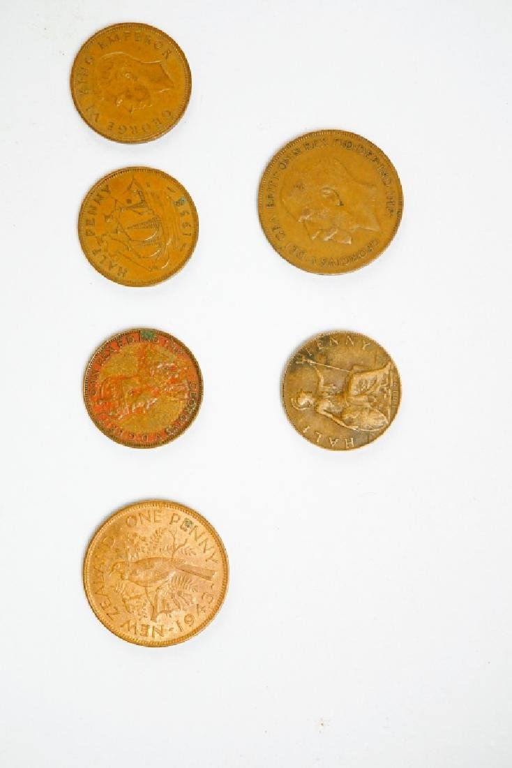 (177) ASSORTED UK NEW ZEALAND AND AUSTRALIAN COINS - 3