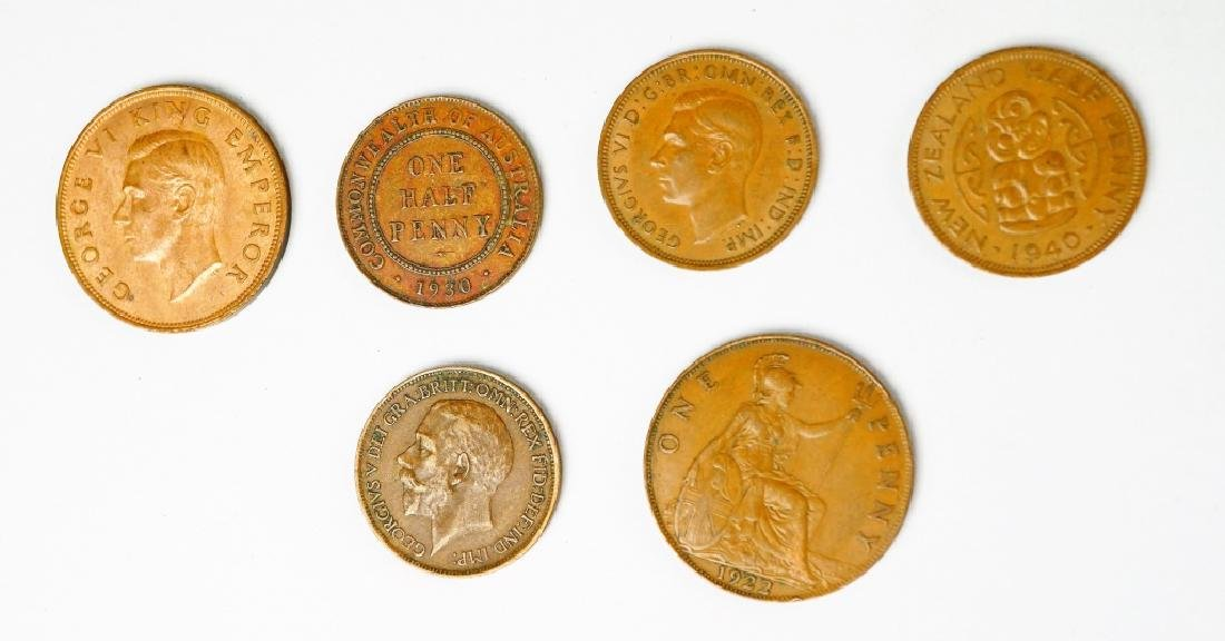 (177) ASSORTED UK NEW ZEALAND AND AUSTRALIAN COINS - 5