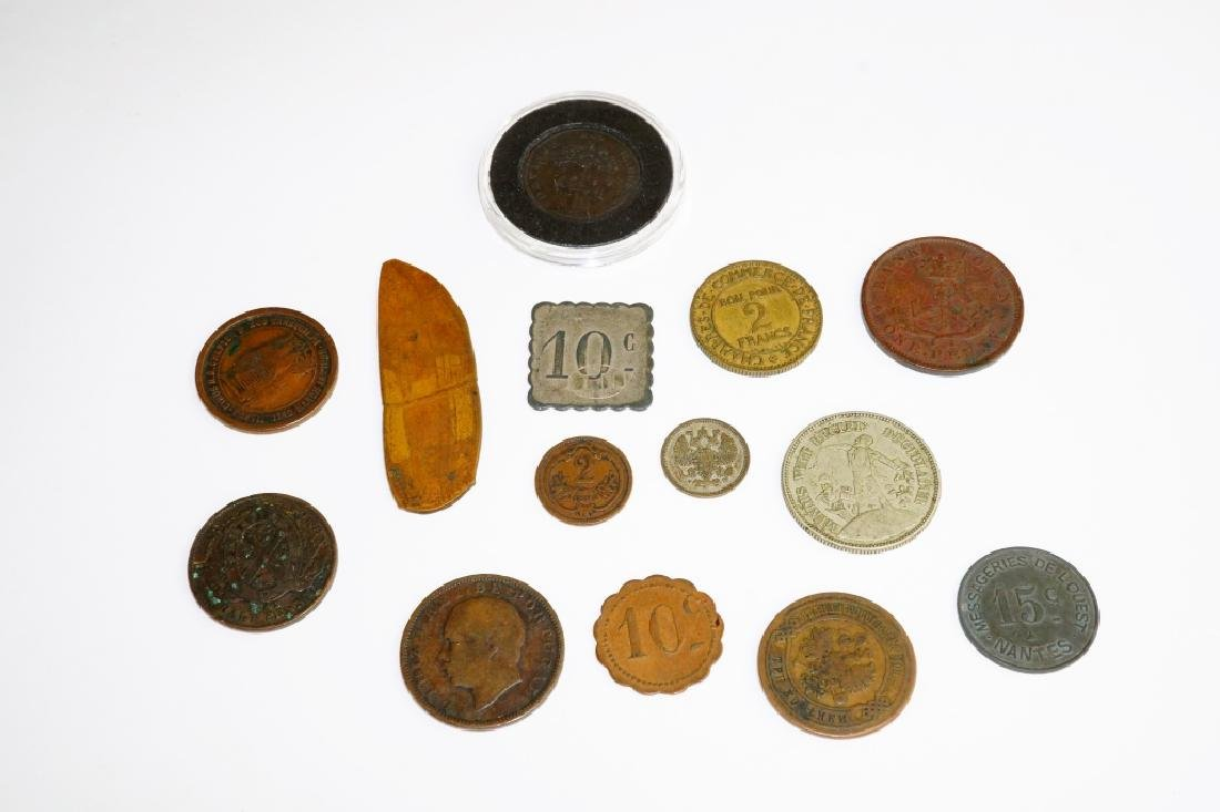 (14) ASSORTED US & FOREIGN COINS & TOKENS - 3