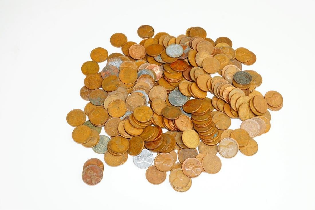 (232) ASSORTED PENNIES