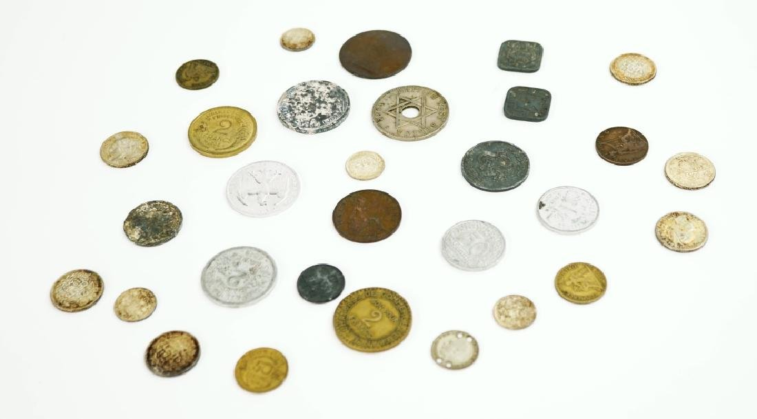 ASSORTED VINTAGE FOREGIN COINS & CURRENCY - 6