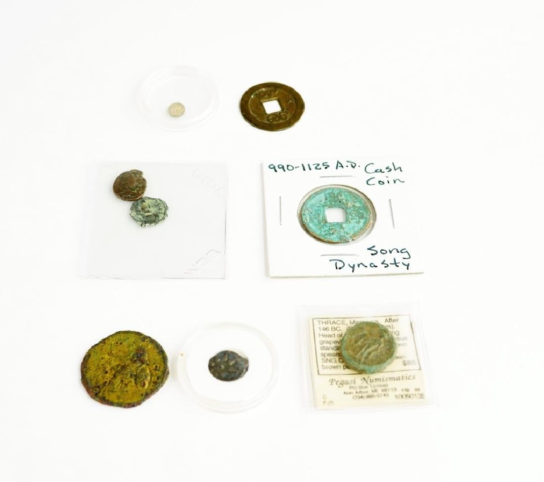 (8) ASSORTED ANCIENT COINS