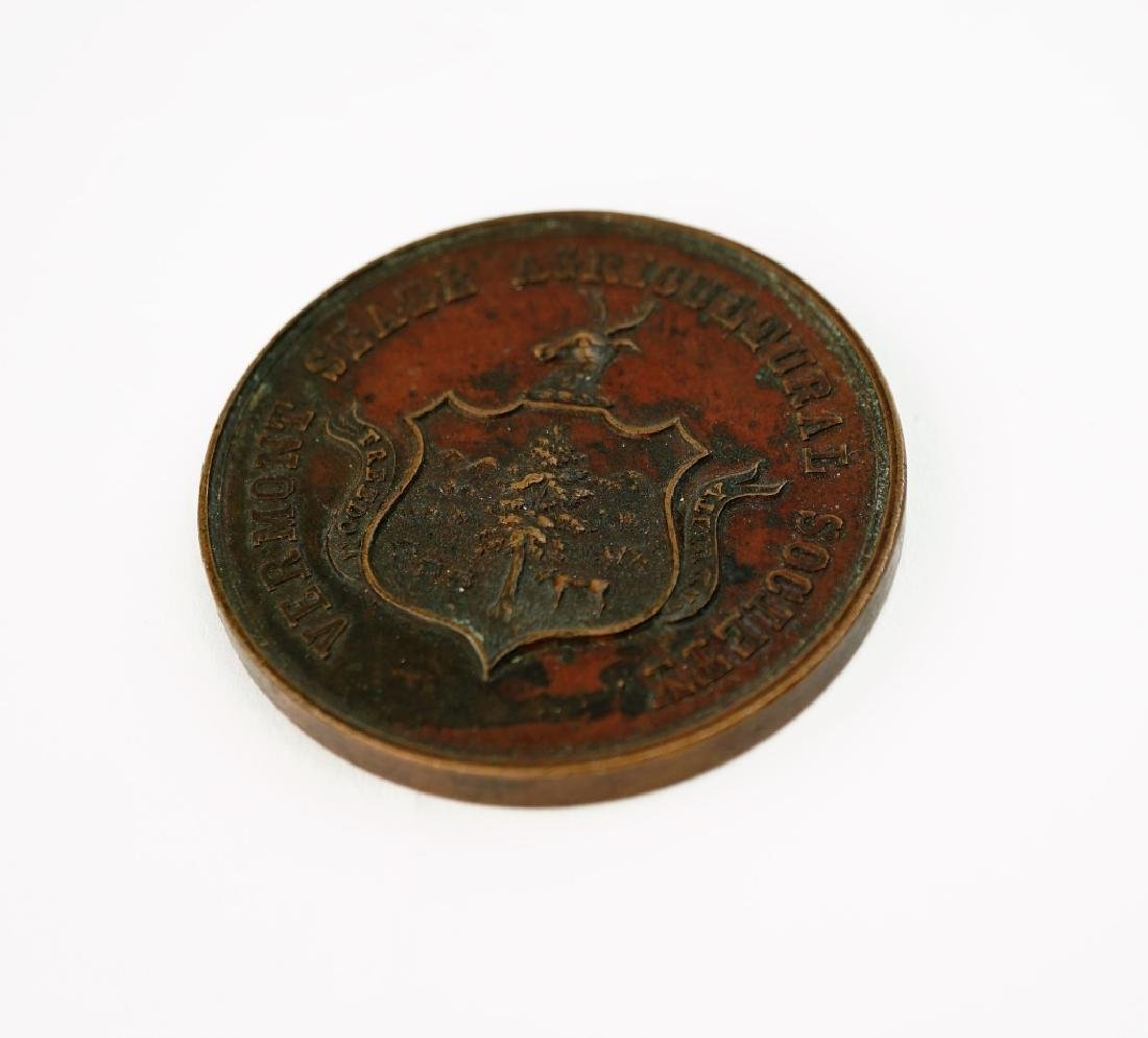 ANTIQUE VERMONT STATE AGRICULTURAL SOCIETY MEDAL
