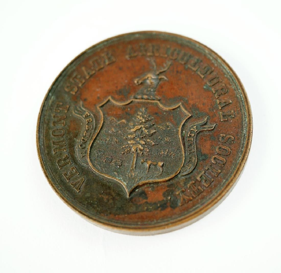 ANTIQUE VERMONT STATE AGRICULTURAL SOCIETY MEDAL - 2
