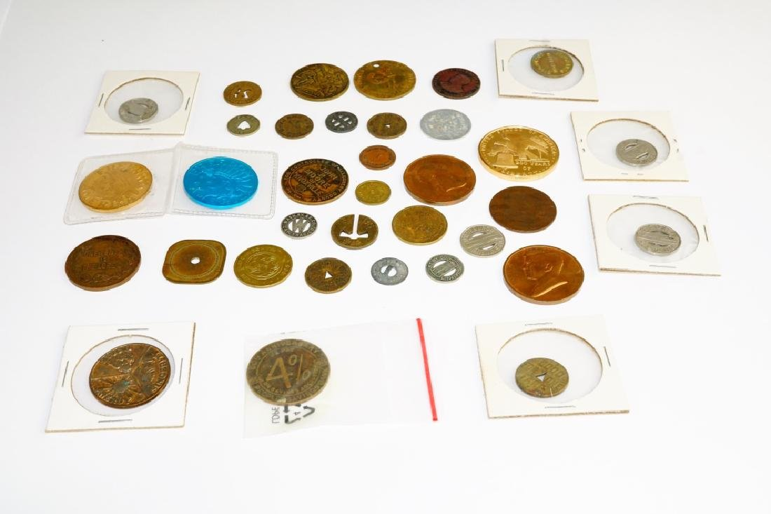 (35) ASSORTED COMMEMORATIVE COINS & TOKENS