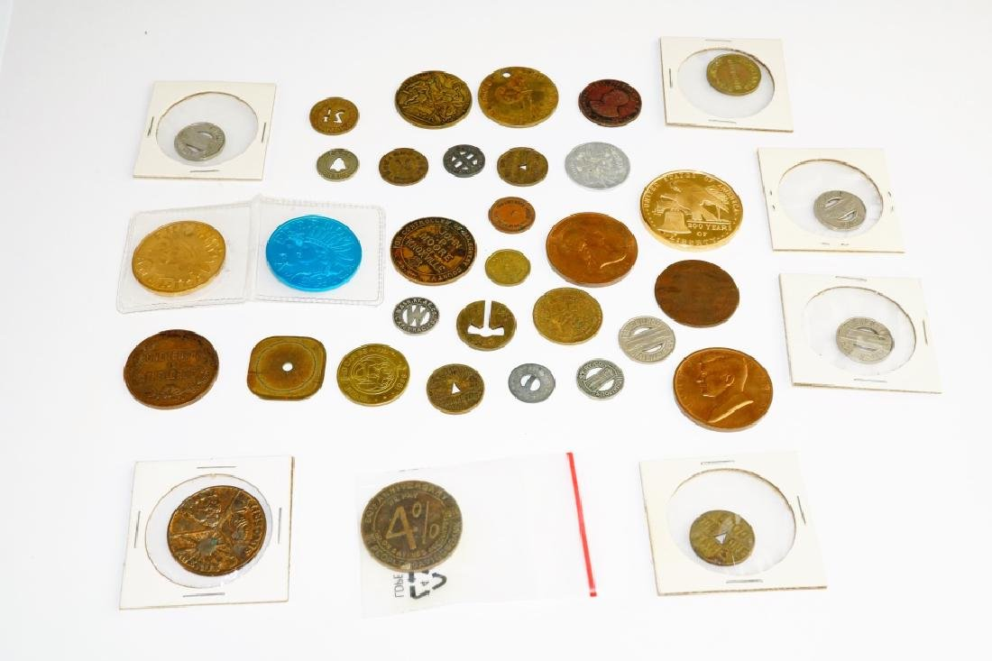 (35) ASSORTED COMMEMORATIVE COINS & TOKENS - 3