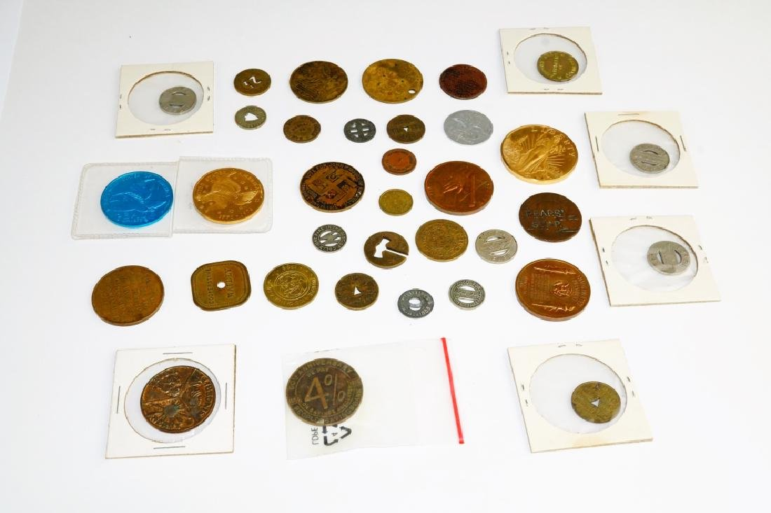 (35) ASSORTED COMMEMORATIVE COINS & TOKENS - 4