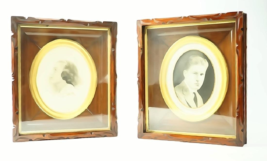 PAIR OF VICTORIAN SHADOW BOX FRAMES