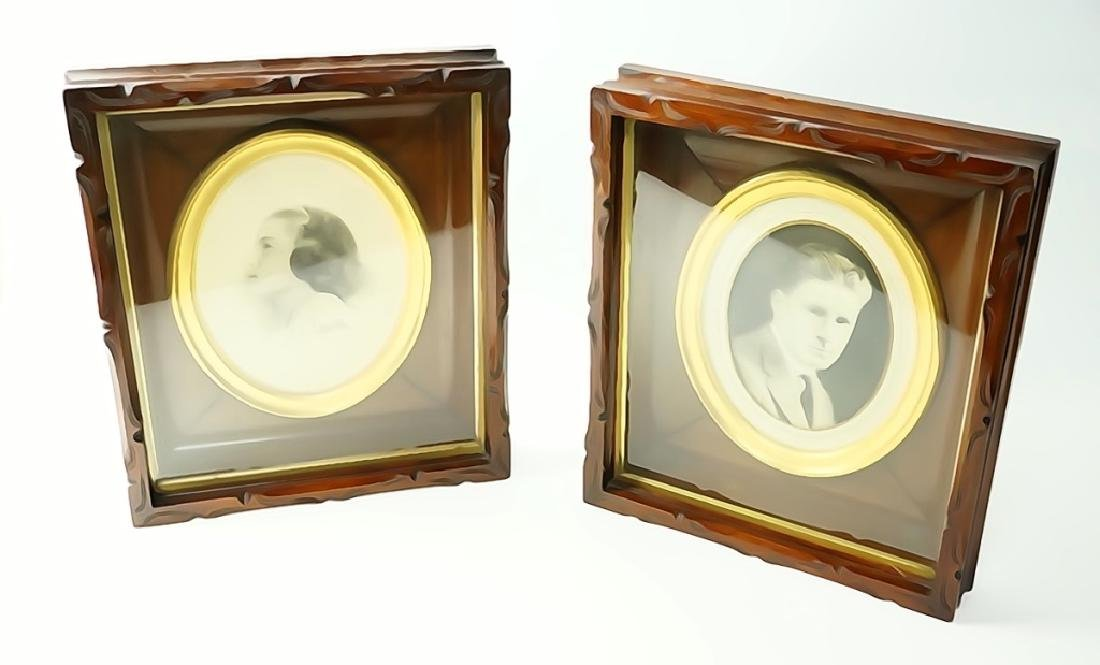 PAIR OF VICTORIAN SHADOW BOX FRAMES - 5