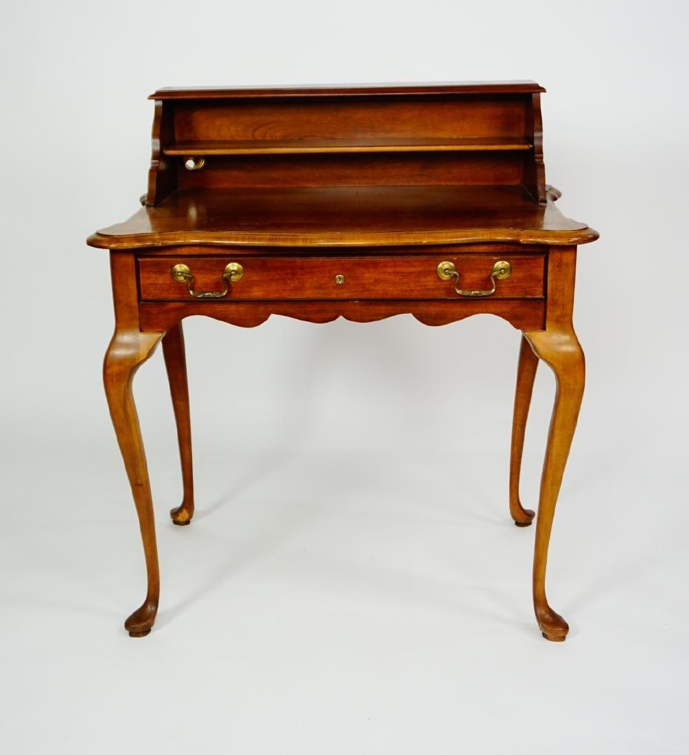 Queen Anne Desk >> Cherry Queen Anne Writing Desk