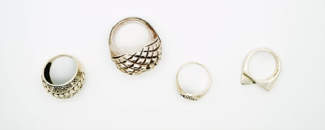 (4) ASSORTED STERLING SILVER RINGS - 4