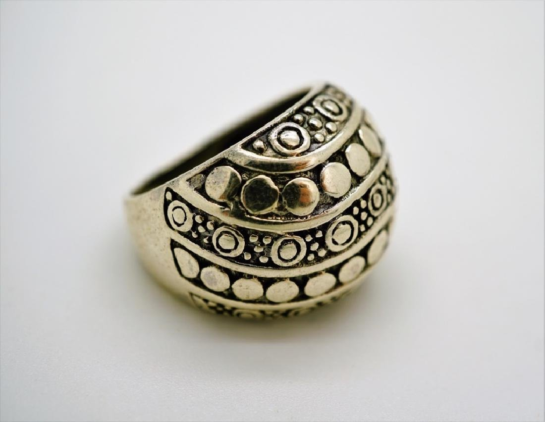 (4) ASSORTED STERLING SILVER RINGS - 5