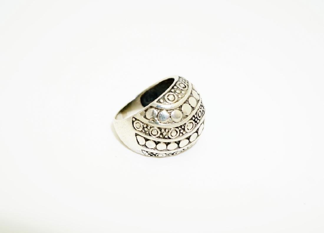 (4) ASSORTED STERLING SILVER RINGS - 6