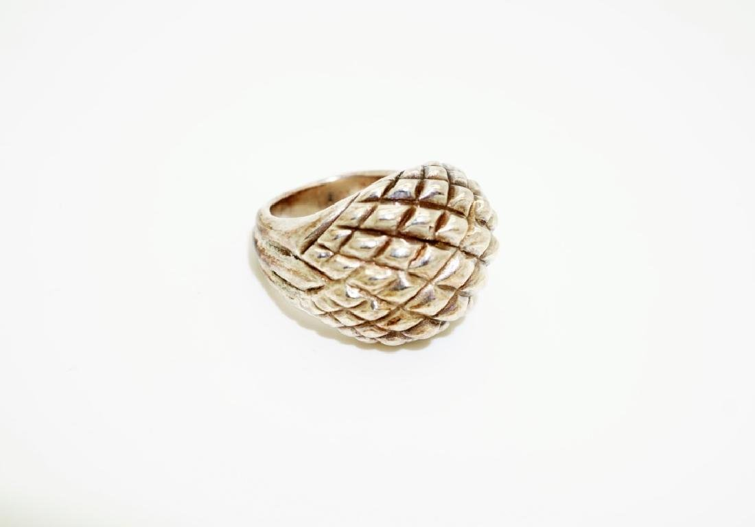 (4) ASSORTED STERLING SILVER RINGS - 7