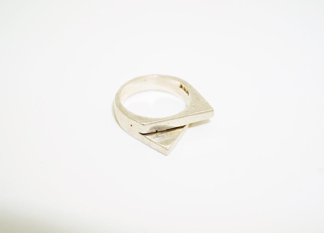 (4) ASSORTED STERLING SILVER RINGS - 8
