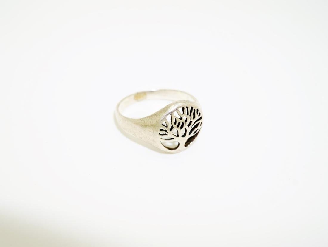 (4) ASSORTED STERLING SILVER RINGS - 9