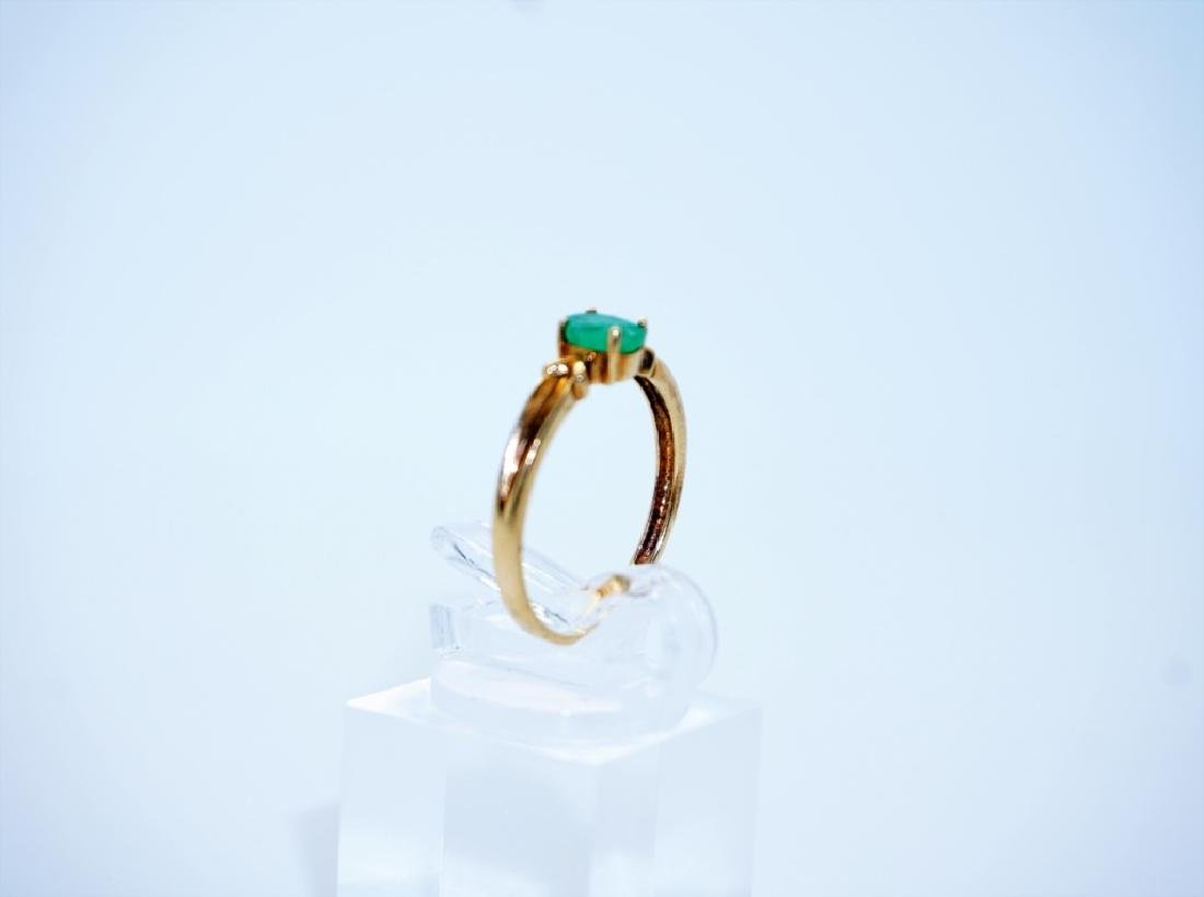 10K YELLOW GOLD & EMERALD RING - 3