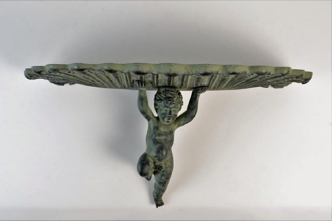 COMPOSITE CHERUB WALL SHELF