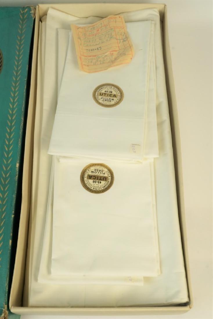 VINTAGE UTICA & MOHAWK COTTON MILLS BED SHEETS - 2