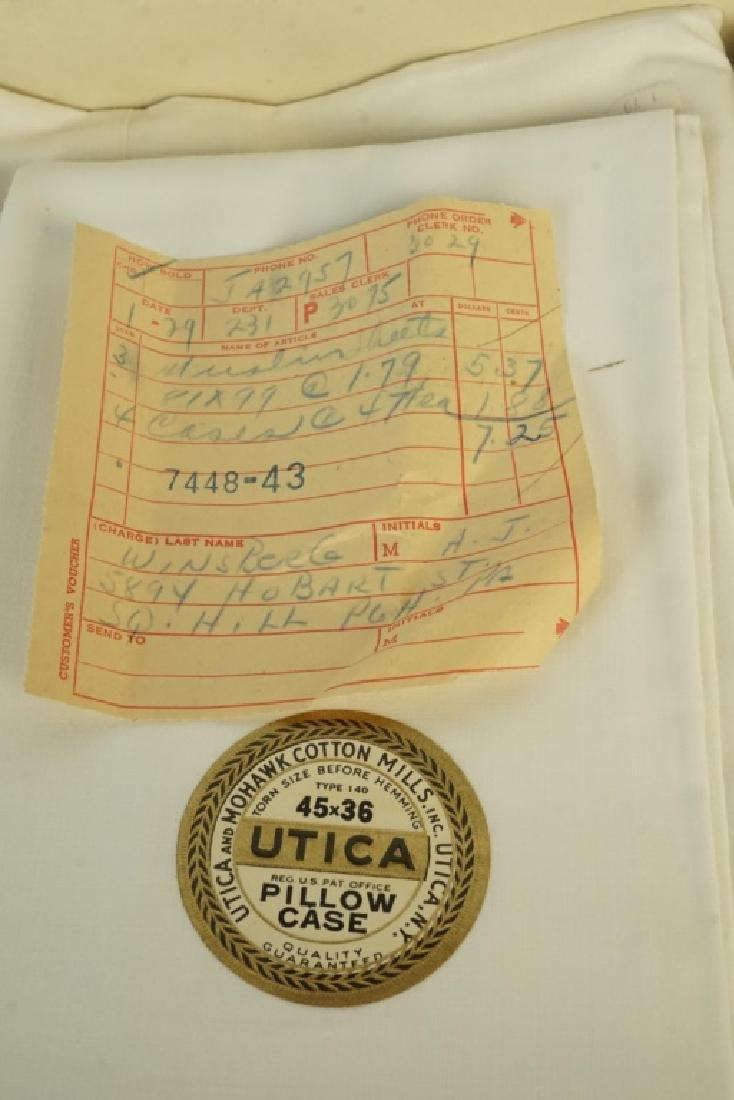 VINTAGE UTICA & MOHAWK COTTON MILLS BED SHEETS - 3